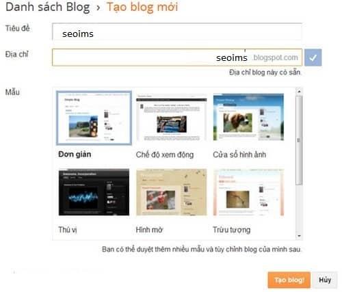 Hướng Dẫn Thiết Kế Blog Miễn Phí Chi Tiết Nhất